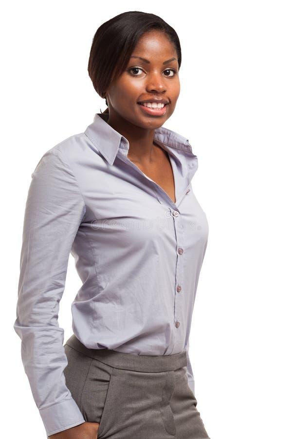 Giovane donna di affari nera fotografie stock