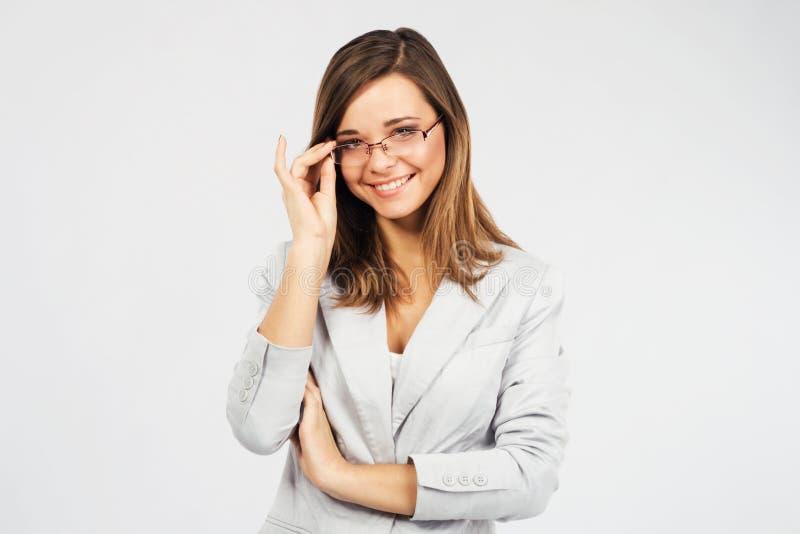 Giovane donna di affari sicura fotografia stock libera da diritti