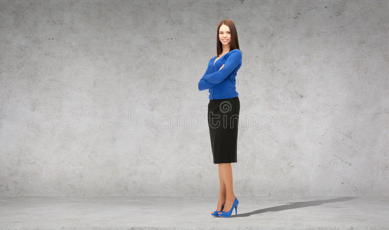 Giovane donna di affari sorridente amichevole immagini stock