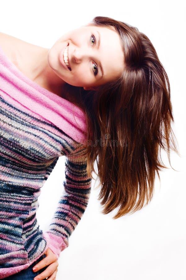 Giovane donna di bellezza felice fotografie stock libere da diritti