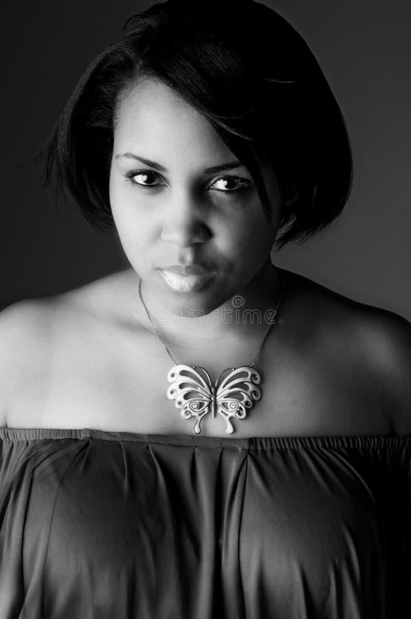 Giovane donna di colore fotografia stock