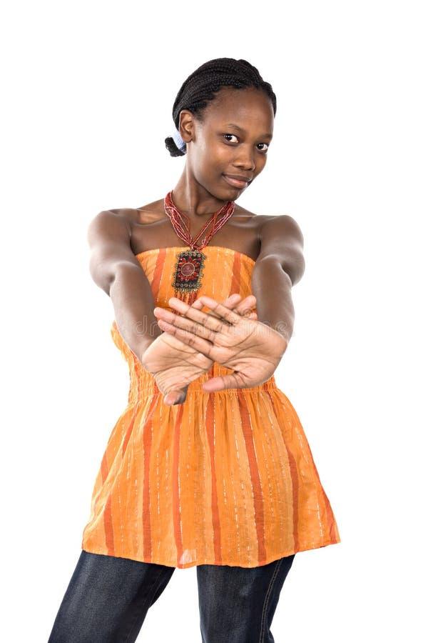 Giovane donna di colore d'avanguardia immagini stock