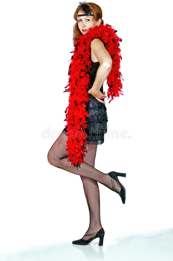 Giovane donna di Iimage vestita come falda immagine stock libera da diritti
