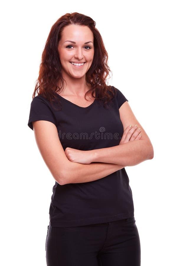 Giovane donna felice immagini stock