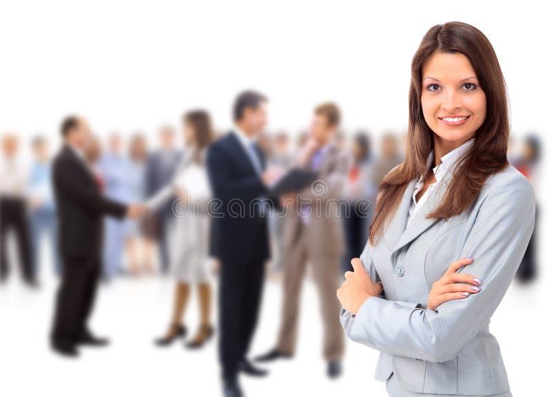 Giovane donna felice di affari fotografie stock libere da diritti