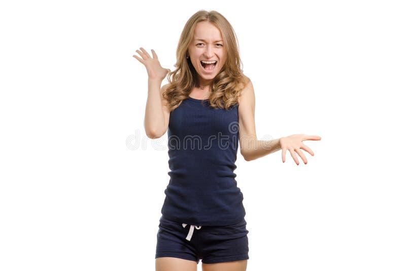 Giovane donna furiosa fotografie stock libere da diritti