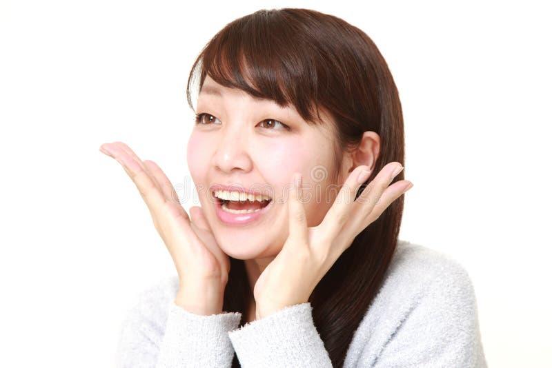 Giovane donna giapponese per favore immagine stock libera da diritti