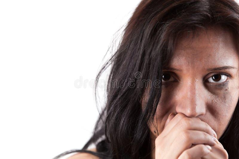 Giovane donna gridante immagini stock