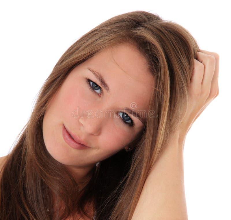 Giovane donna incerta immagini stock