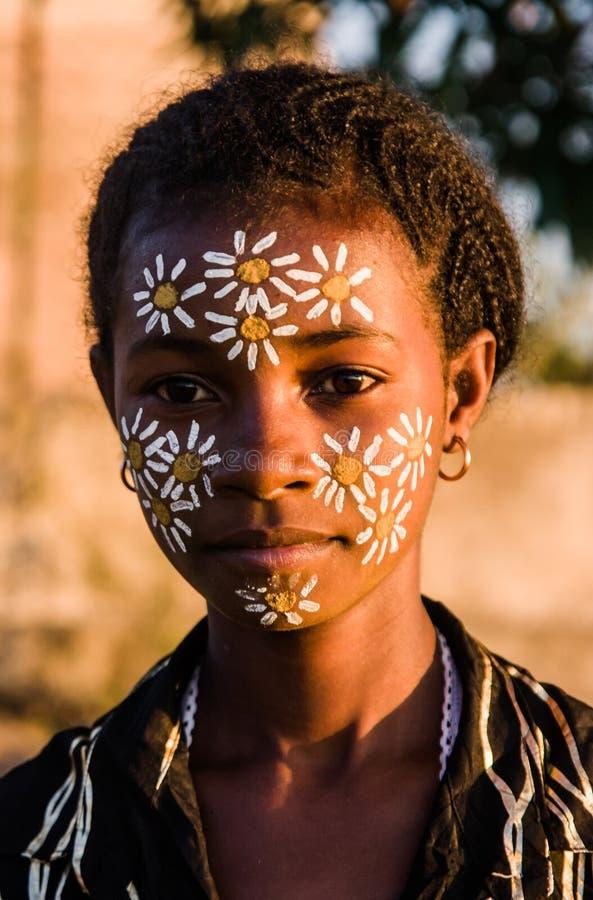Giovane donna malgascia immagini stock