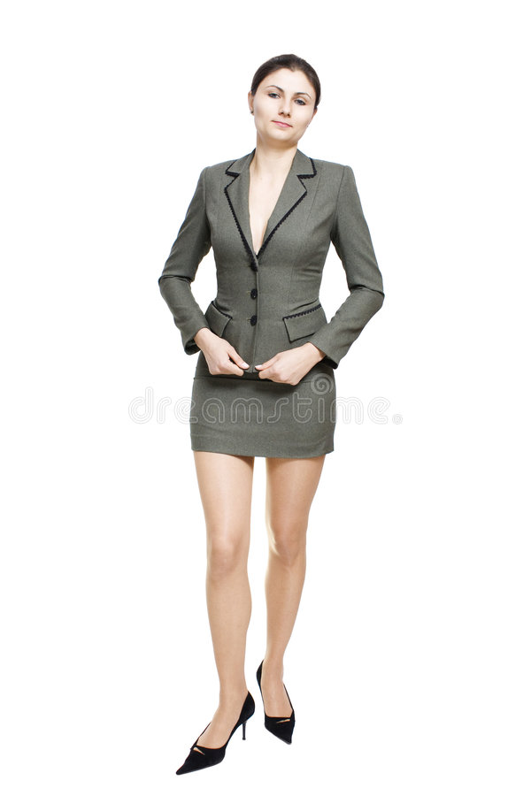 Giovane donna in miniskirt fotografia stock