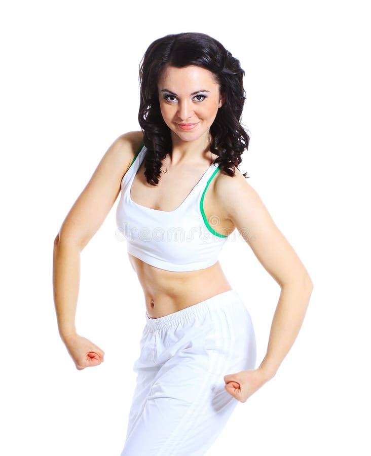 Giovane donna nella posa di yoga fotografie stock libere da diritti