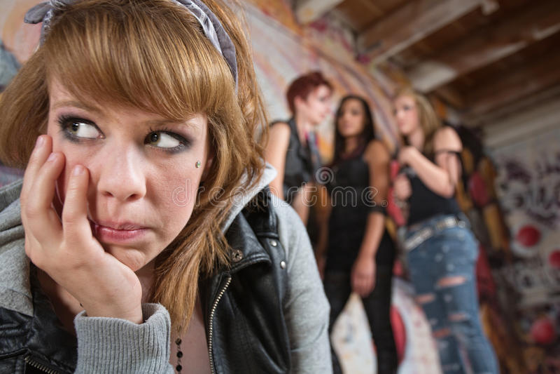 Giovane donna sola fotografie stock libere da diritti