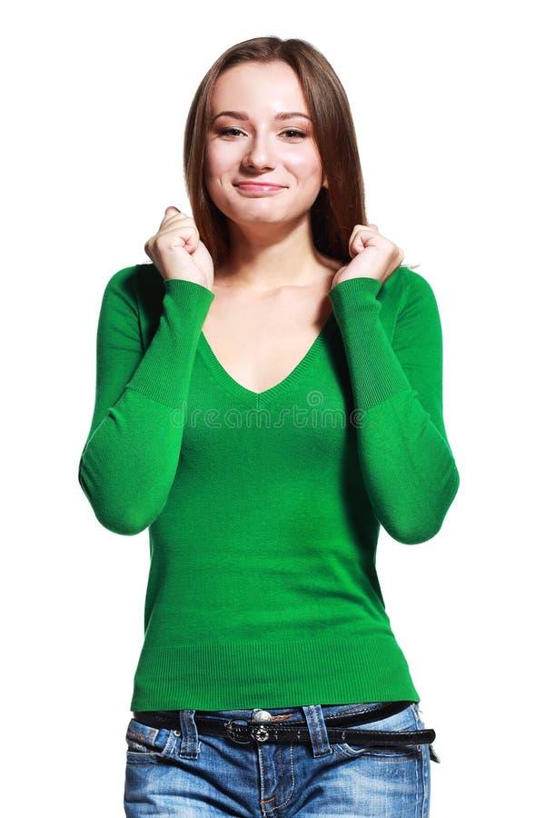 Giovane donna sorpresa immagini stock libere da diritti