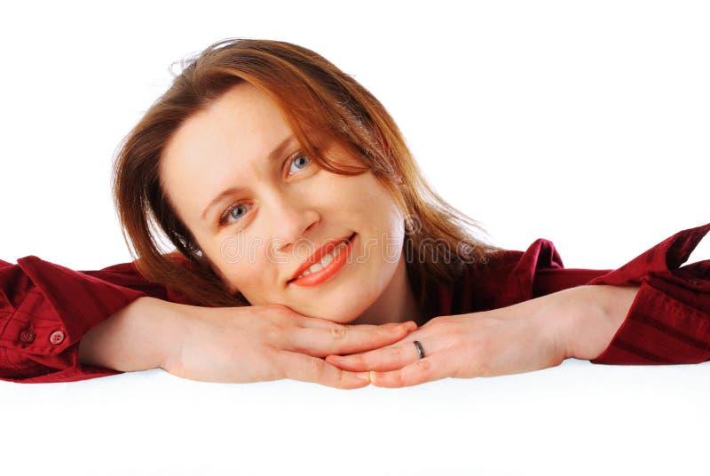 Giovane Donna Sorridente Attraente Di Affari Fotografia Stock