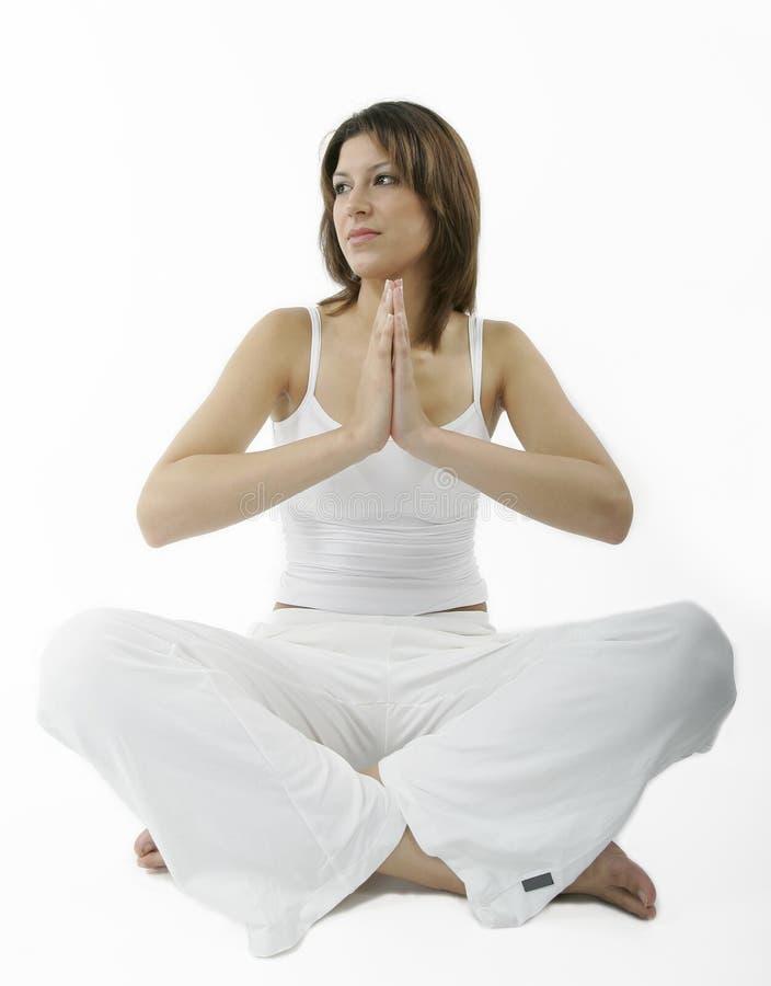 Giovane donna spirituale fotografie stock libere da diritti