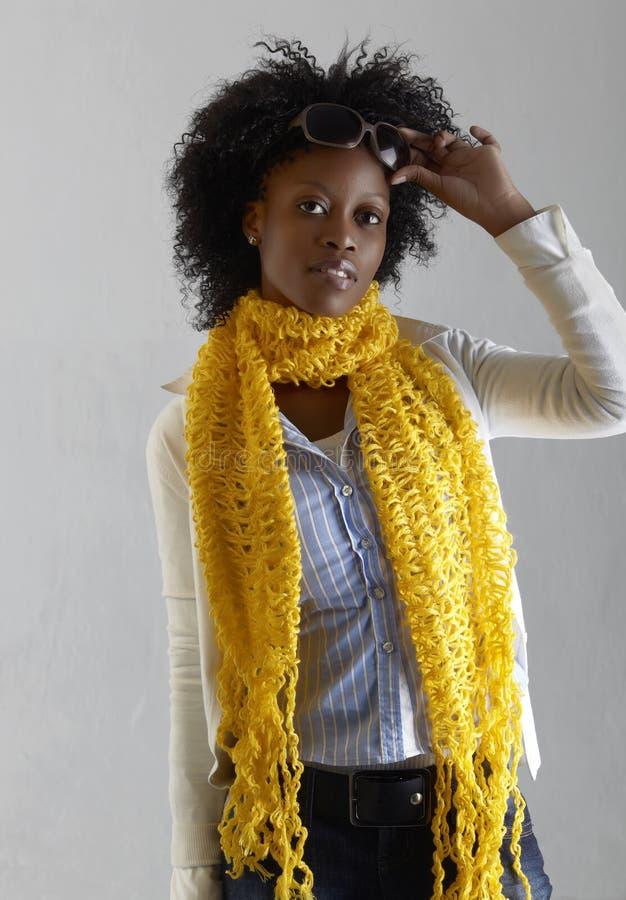 Giovane donna sudafricana. fotografia stock libera da diritti