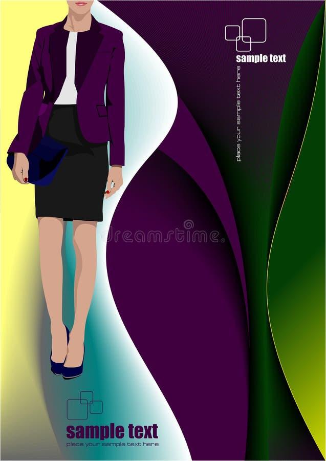 Giovane donna sull'estratto royalty illustrazione gratis