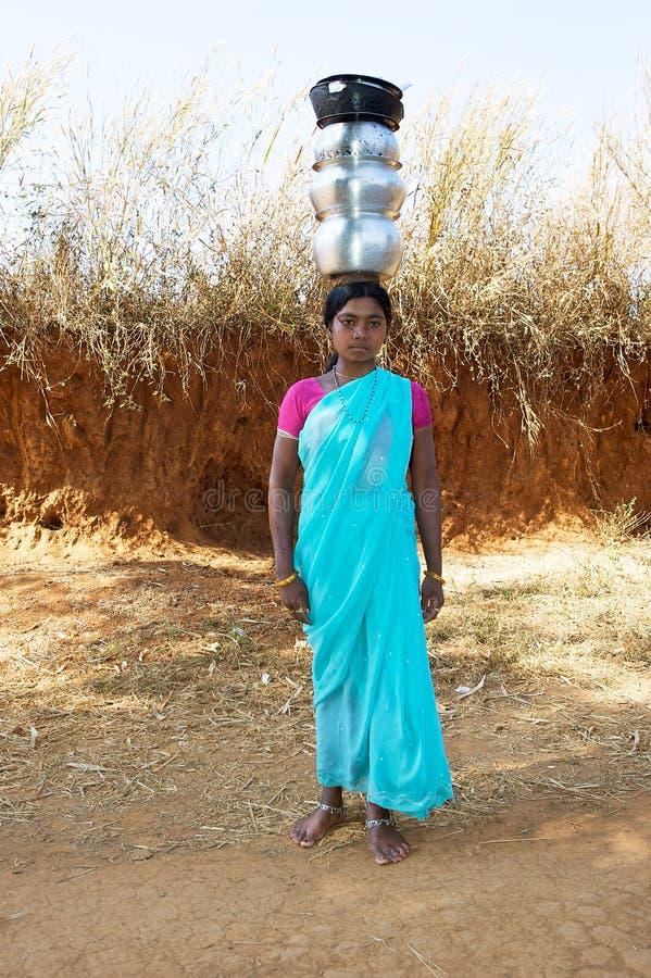 Giovane donna tribale indiana immagine stock libera da diritti