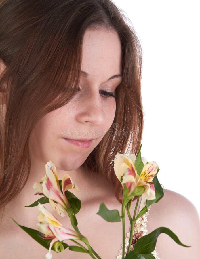 Giovane donna vaga fotografia stock