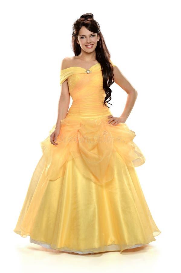Giovane donna vestita come principessa fotografia stock