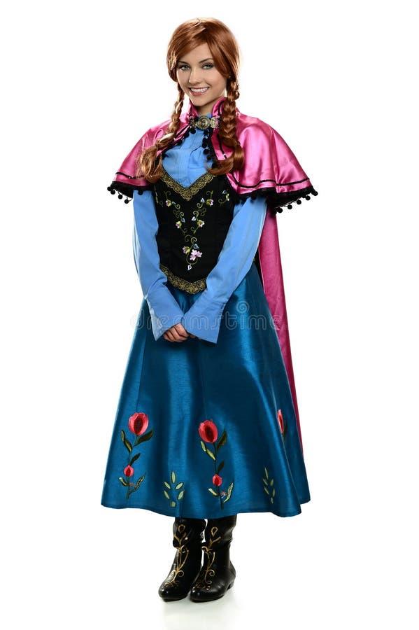 Giovane donna vestita in costume immagine stock