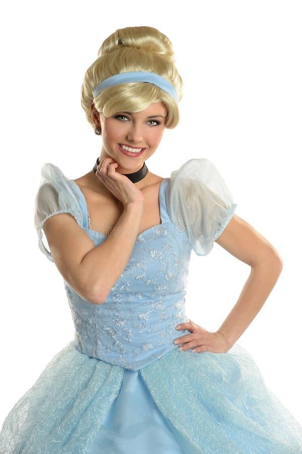Giovane donna vestita in principessa Costume fotografie stock