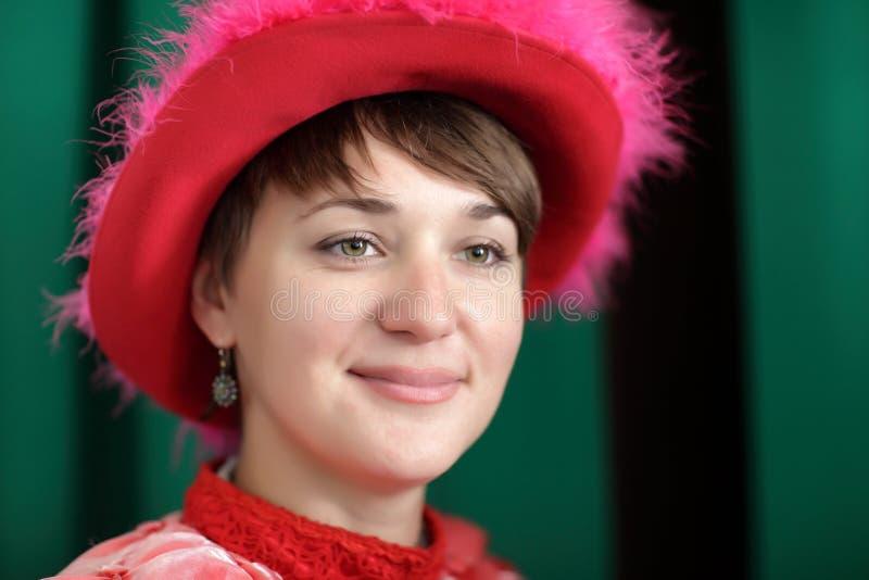 Giovane donna in vestito vittoriano immagini stock