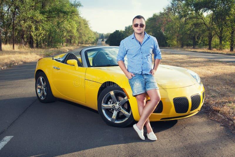 Giovane driver maschio fotografie stock