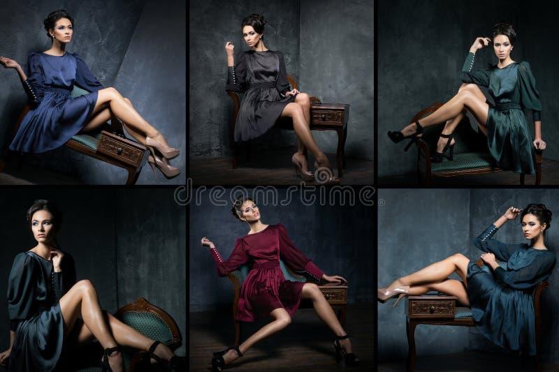 Giovane e bello insieme del modello di moda fotografia stock