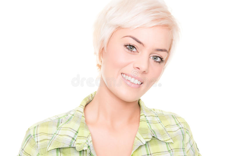 Giovane e donna sorridente fotografia stock