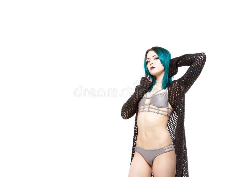 Download Giovane Femmina Irritabile In Bikini Fotografia Stock - Immagine di sicuro, gotico: 55355738