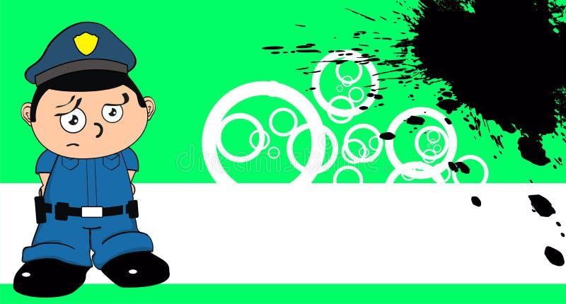 Giovane fondo del fumetto del bambino del poliziotto illustrazione di stock