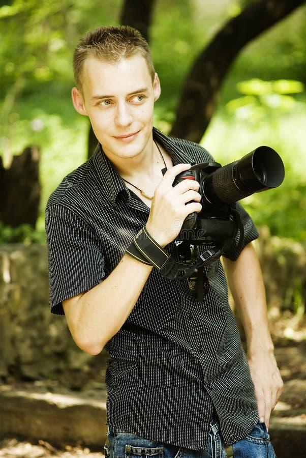 Giovane fotografo fotografia stock libera da diritti