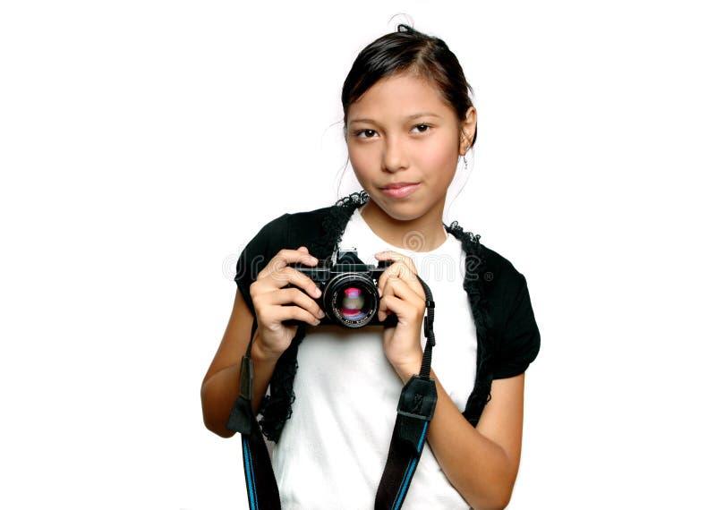 Giovane fotografo immagine stock