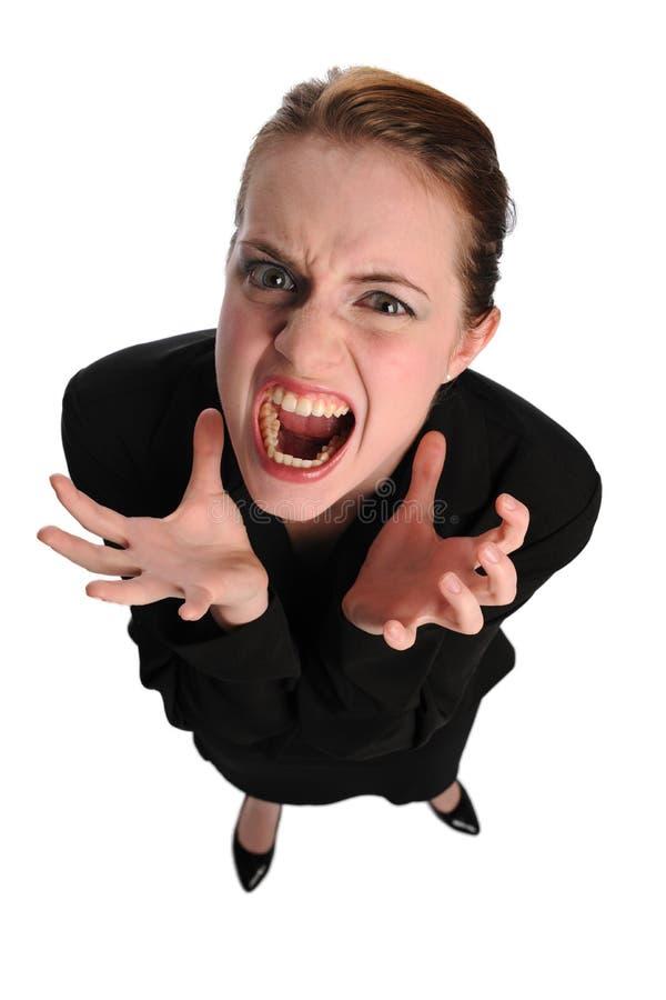 Giovane frustation di expressin della donna di affari immagine stock