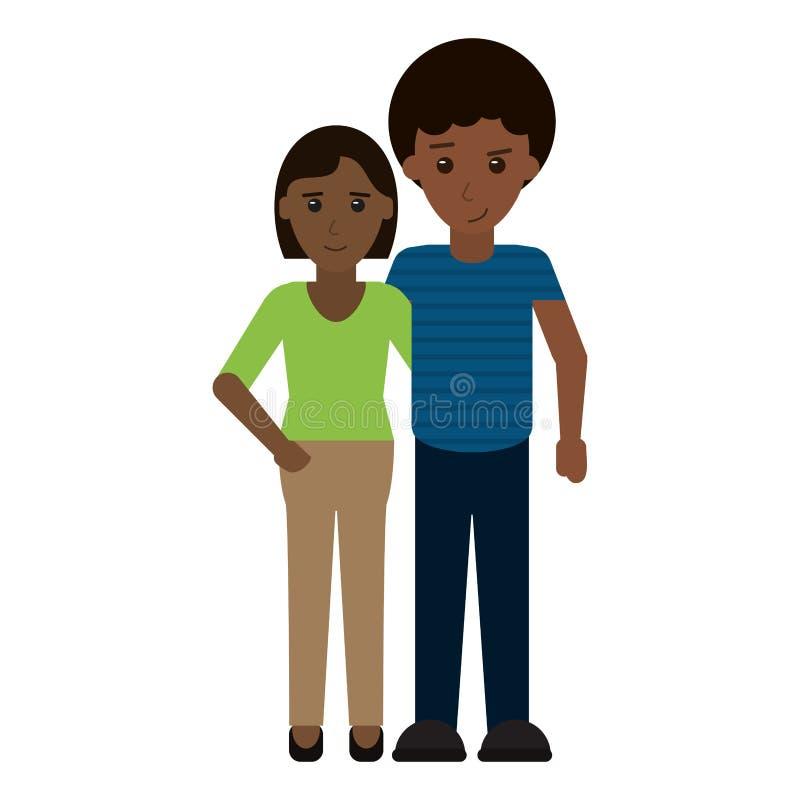 Giovane fumetto delle coppie royalty illustrazione gratis