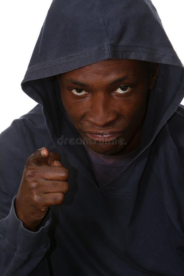 Giovane gangster arrabbiato immagine stock