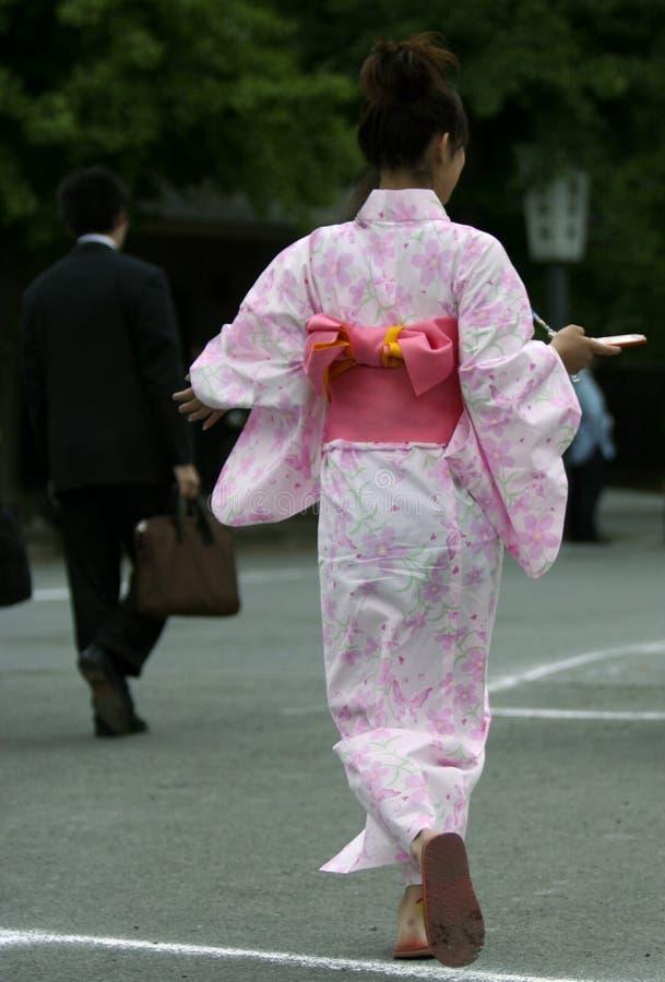 Giovane geisha fotografie stock