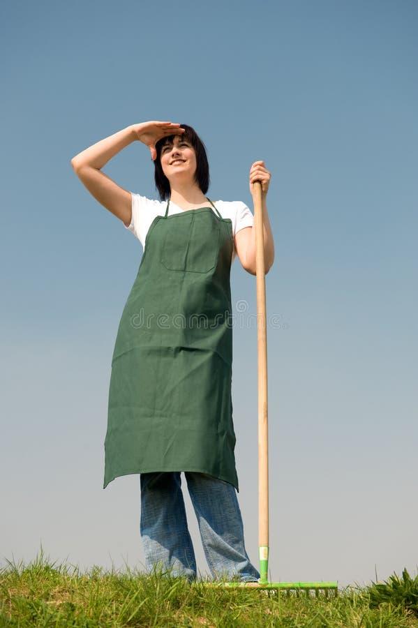 Giovane giardiniere immagine stock