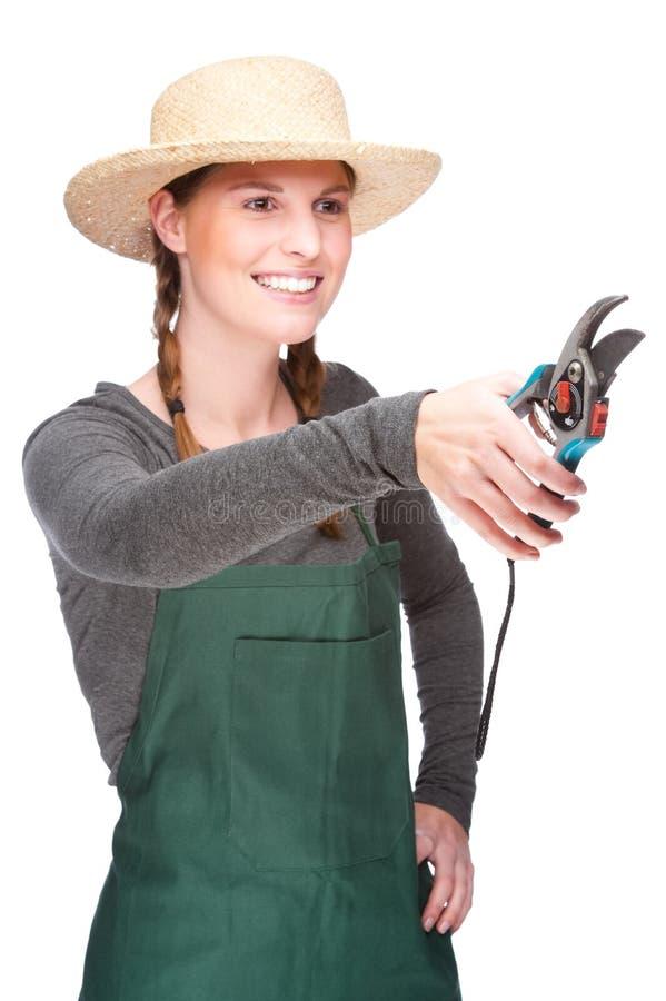 Giovane giardiniere fotografia stock