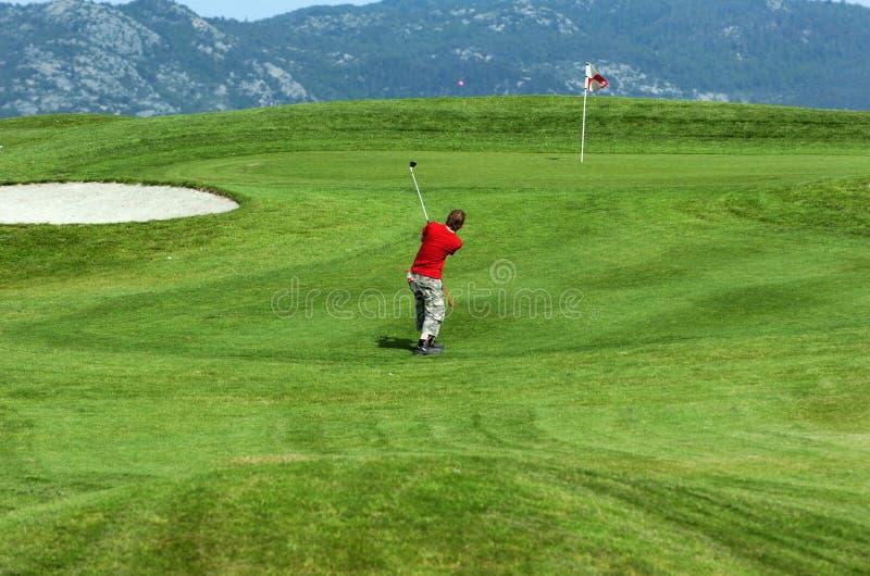 Giovane giocatore di golf immagine stock