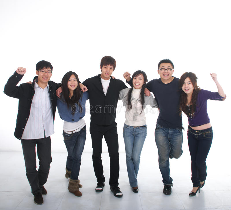 Giovane gruppo asiatico fotografia stock