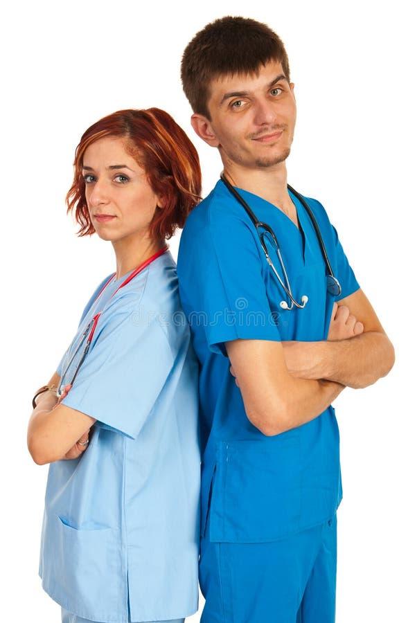 Giovane gruppo di medici fotografia stock