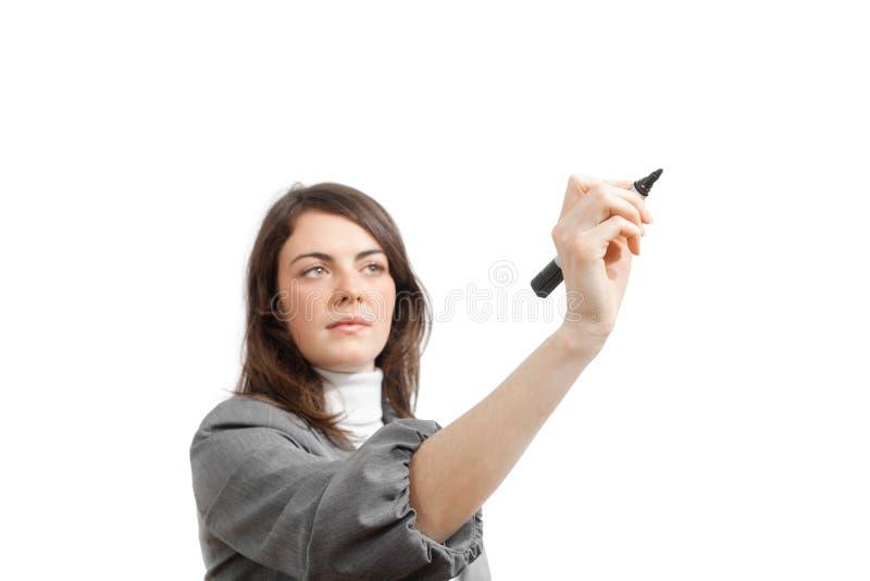 Giovane illustrazione della donna di affari. immagine stock