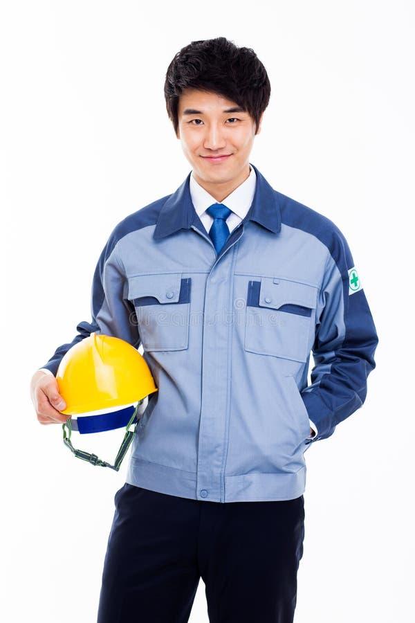 Giovane ingegnere asiatico. fotografia stock