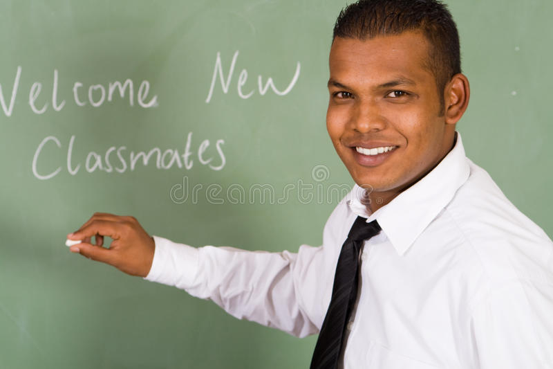 Giovane insegnante felice immagine stock libera da diritti