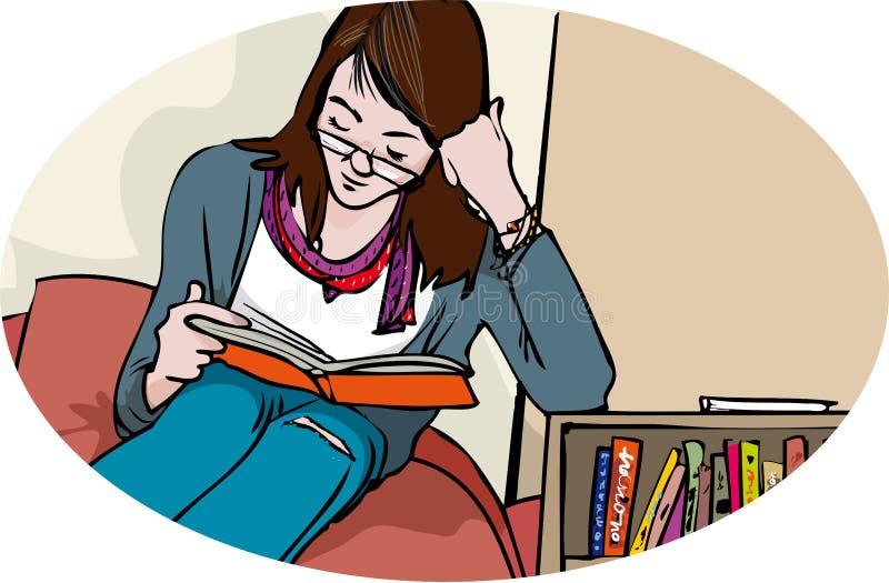 Giovane lettore royalty illustrazione gratis