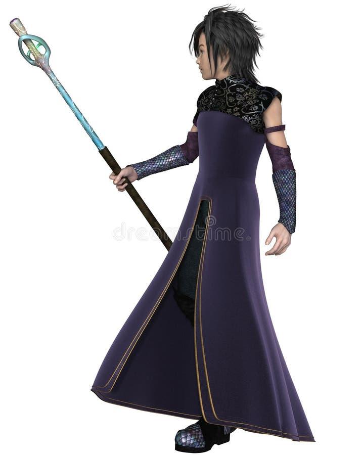 Giovane mago maschio di Elven royalty illustrazione gratis