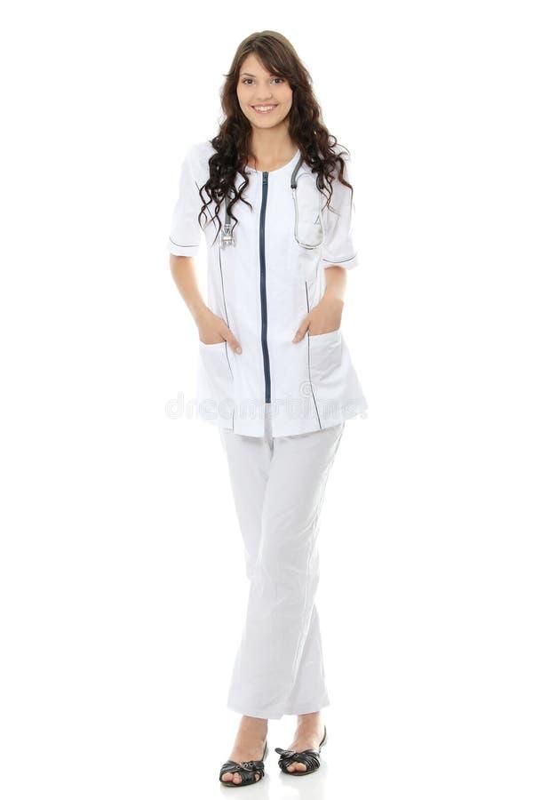 Giovane medico o infermiera femminile immagine stock libera da diritti